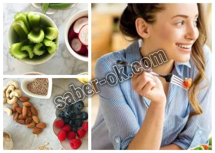 Dieta alta en fibras con alimentos que alimentan la flora intestinal